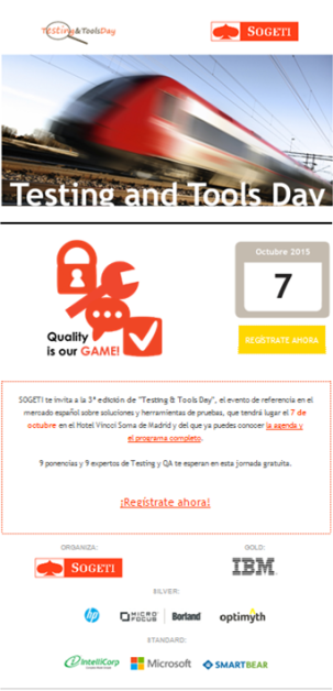 TESTING AND TOOLS INVITACION